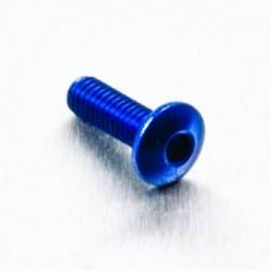 Tornillo de Aluminio Pro-bolt cabeza redondeada M4 x (0.5mm) x 12mm Fine azul LFB412FB