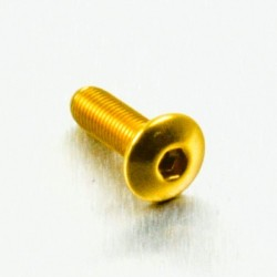 Tornillo de Aluminio Pro-bolt cabeza redondeada M4 x (0.5mm) x 12mm Fine oro LFB412FG