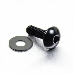 Tornillo de Aluminio Pro-bolt cabeza redondeada M5 x (0.8mm) x 16mm negro LFB516BK