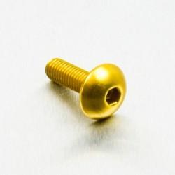 Tornillo de Aluminio Pro-bolt cabeza redondeada M5 x (0.8mm) x 16mm oro LFB516G