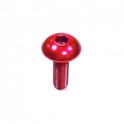 Tornillo de Aluminio Pro-bolt cabeza redondeada M5 x (0.8mm) x 16mm rojo LFB516R