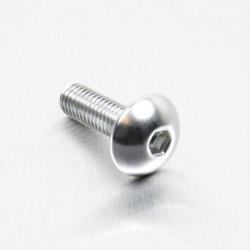 Tornillo de Aluminio Pro-bolt cabeza redondeada M5 x (0.8mm) x 16mm plata LFB516S