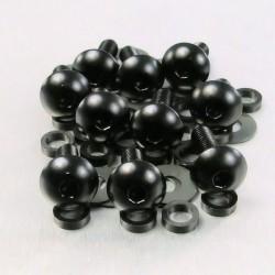 Kit tornillos de carenado Pro-Bolt (10 pack) Aluminio negro FB516-10BK