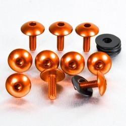 Kit tornillos de carenado Pro-Bolt (10 pack) Aluminio naranja FB516XL-10O