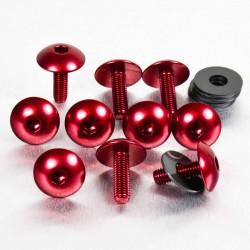 Kit tornillos de carenado Pro-Bolt (10 pack) Aluminio rojo FB516XL-10R