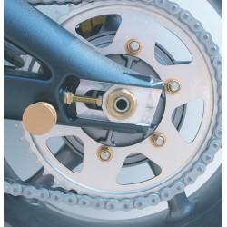 Tornillería de corona 10mm x 1,25 (6 pack) Aluminio oro Pro-Bolt SPN10G