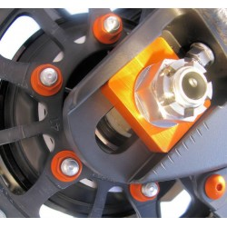 Tornillería de corona 10mm x 1,25 (6 pack) Aluminio naranja Pro-Bolt SPN10O