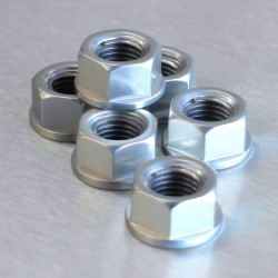 Tornillería de corona 10mm x 1,25 (6 pack) Aluminio plata Pro-Bolt SPN10S