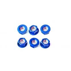 Tornillería de corona 12mm x 1,25 (6 pack) Aluminio azul Pro-Bolt SPN12B