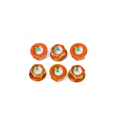Tornillería de corona 12mm x 1,25 (6 pack) Aluminio naranja Pro-Bolt SPN12O