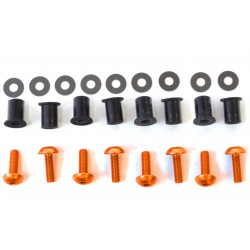 Kit tornilleria de cúpula (8 piezas) Aluminio naranja Pro-Bolt SK8O