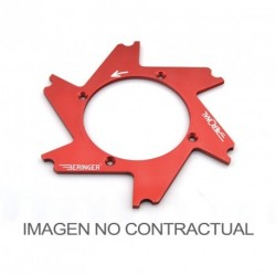 Parte central de disco Aeronal® Izquierda plana. Color NARANJA. (APRIL1GOMM)