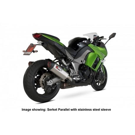 Escape Scorpion Serket Kawasaki Z1000 (10-) Titanio Paralelo