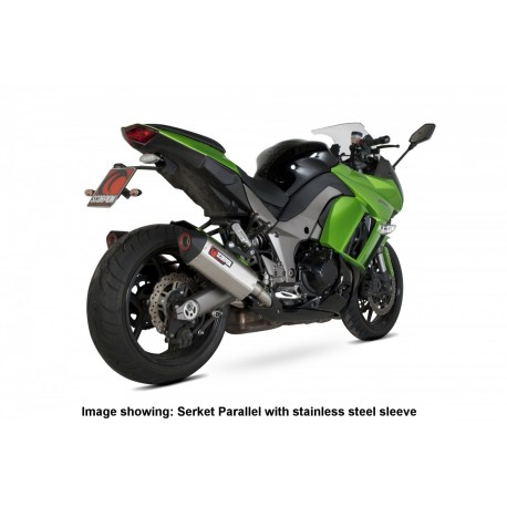 Escape Scorpion Serket Kawasaki Z1000 (10-) Inox Paralelo